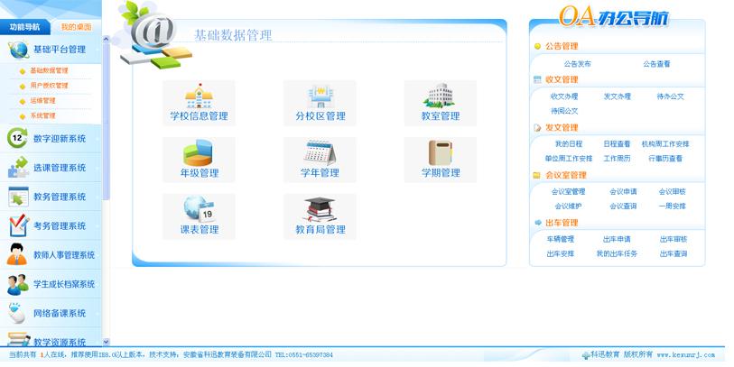 数字化校园综合管理系统